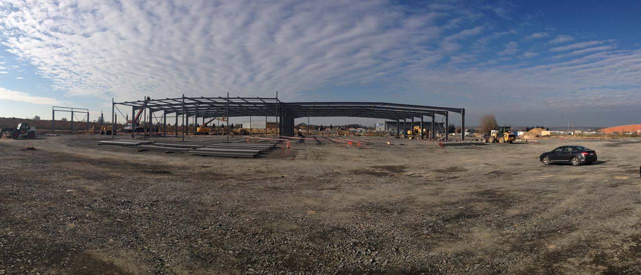 Construction du bâtiment de PVP sur la zone LIGERVAL